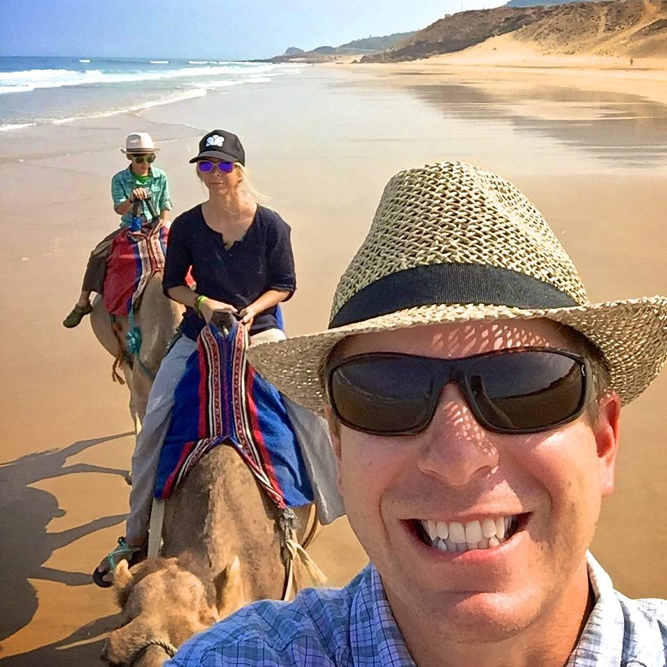 Rory Moulton writer camel ride morocco