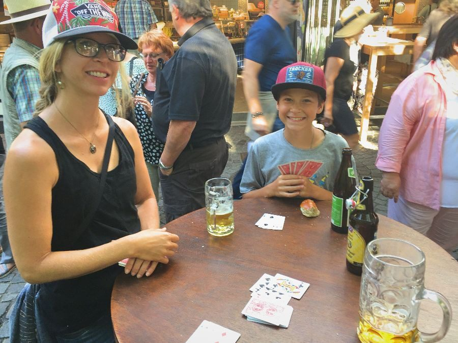 2018 European travel review: Munich Viktualienmarkt beer garden