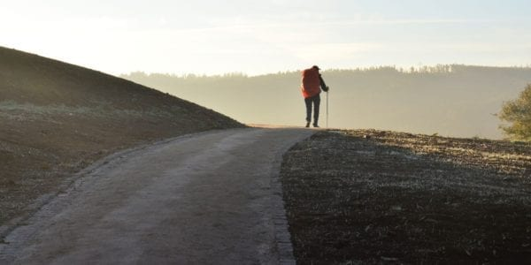 Camino de Santiago hiker, known in English as the Way of Saint James