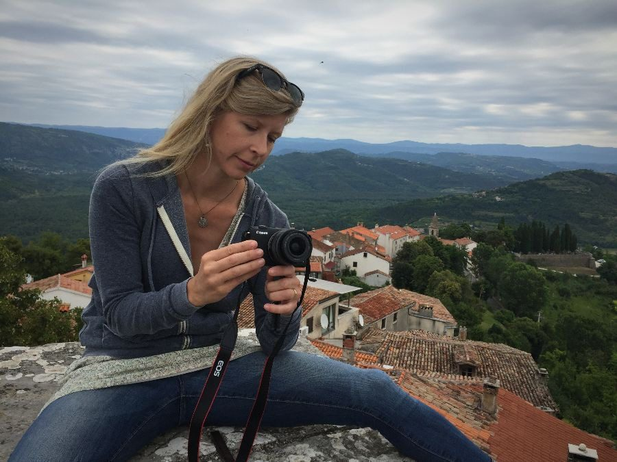 2018 European travel review: Photographer atop ancient walls in Motovun