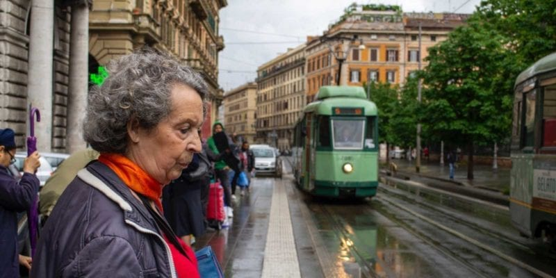 The Rome public transportation network includes Metro, buses and trams.